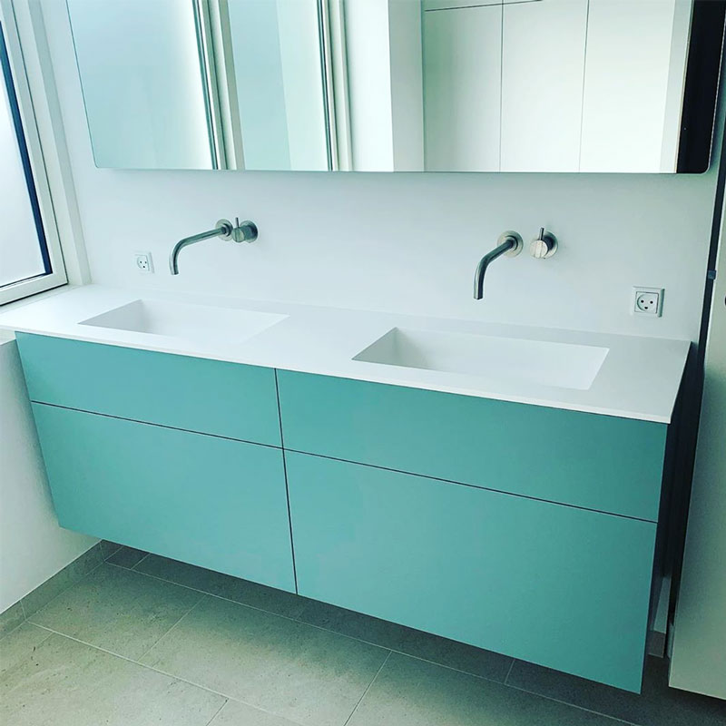 Corianbordplade på badeværelse